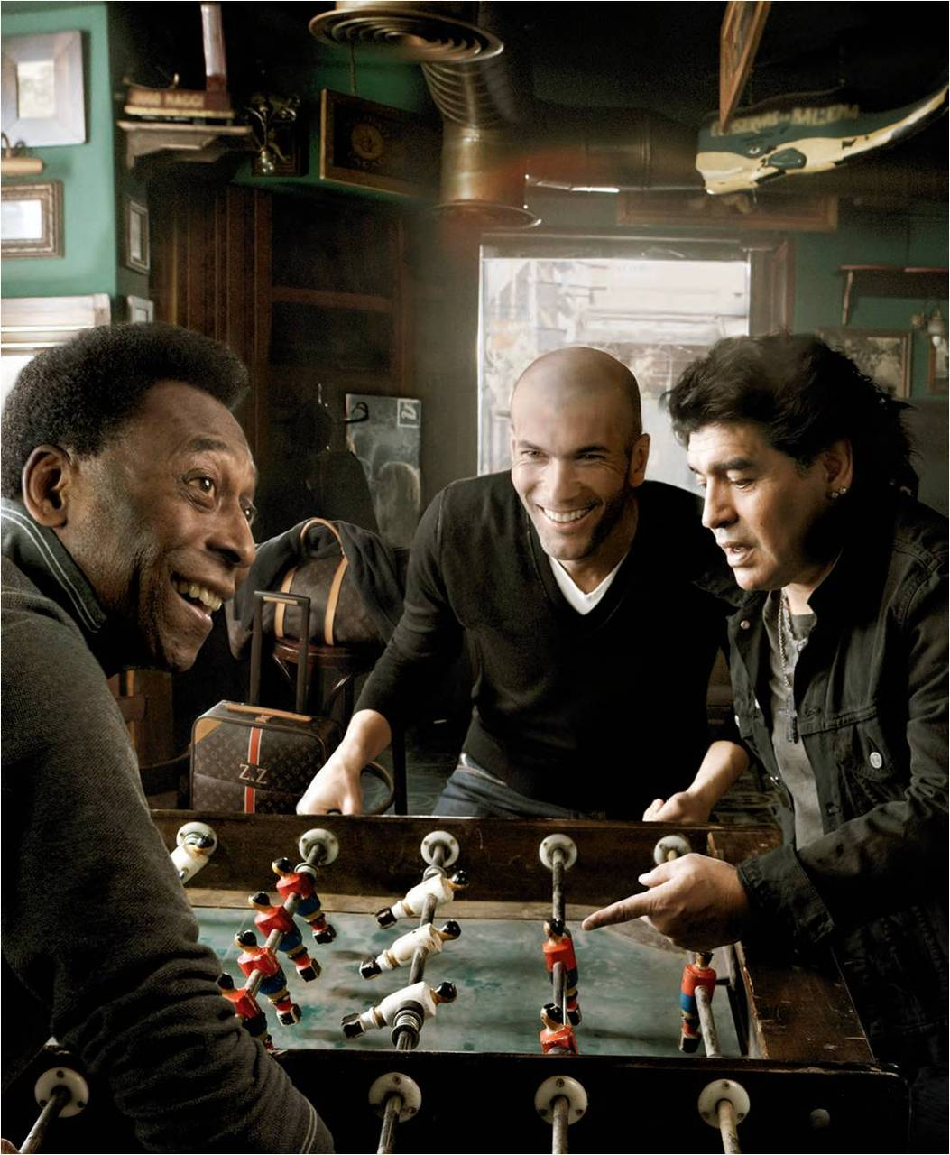 pele zidane maradona for louis vuitton one match ban. Black Bedroom Furniture Sets. Home Design Ideas