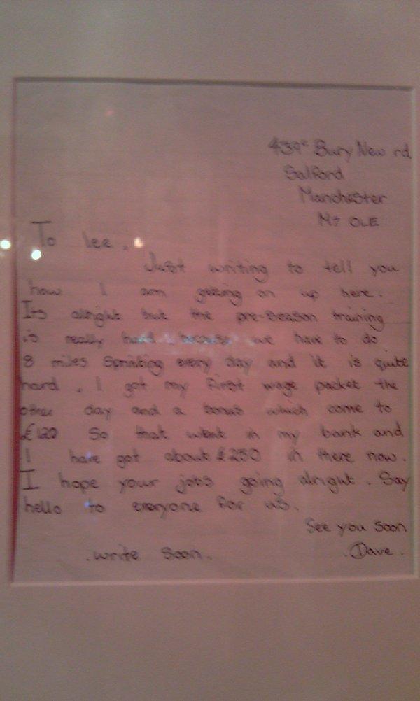 Write a letter to david beckham